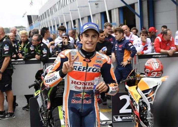 Terkendala Cuaca, Marquez Start Kedua Pedrosa dari Baris Empat MotoGP Belanda