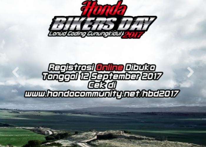 Pendaftraan Online Honda Bikers Day 2017 Perdana Dibuka Hari ini, Berikut Caranya Cah