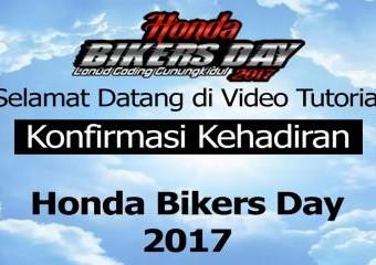Cara Konfirmasi Kehadiran Honda Bikers Day (HBD) 2017