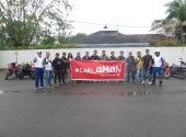 Training Safety Riding Honda Community pada 25 Feb 2018 di Gudang Amplas Honda
