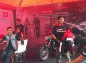 Keseruan Bikers Honda di Lapak Bikers Launching CB150 Verza  di Plaza Millennium Medan 8 April 2018