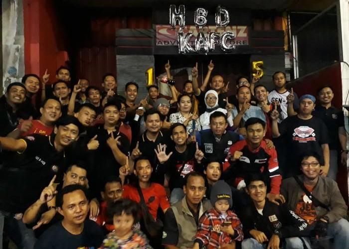 AHJ Hadiri Hari Jadinya KaFC Ke-15 Tahun Di Kopdaranya.