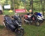 Manisnya Penampakan 'Si Hitam' Honda Forza di Bikers Camp AHJ.