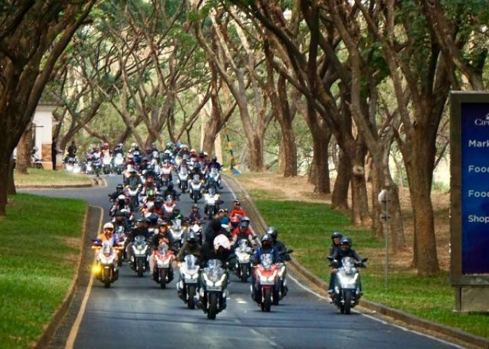 Ratusan Bikers Honda ADV 150 Touring Perdana Di Jatim