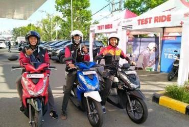 Launching Honda New BeAT di Padang