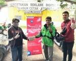 Astra Motor Makassar & I. M. H. M #BersamaHonda Satu Hati Berbagi Ke Driver Ojol