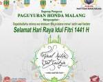 Kami Paguyuban Honda Malang Mengucapkan Selamat Hari Raya Idul Fitri 1441 hijriyah