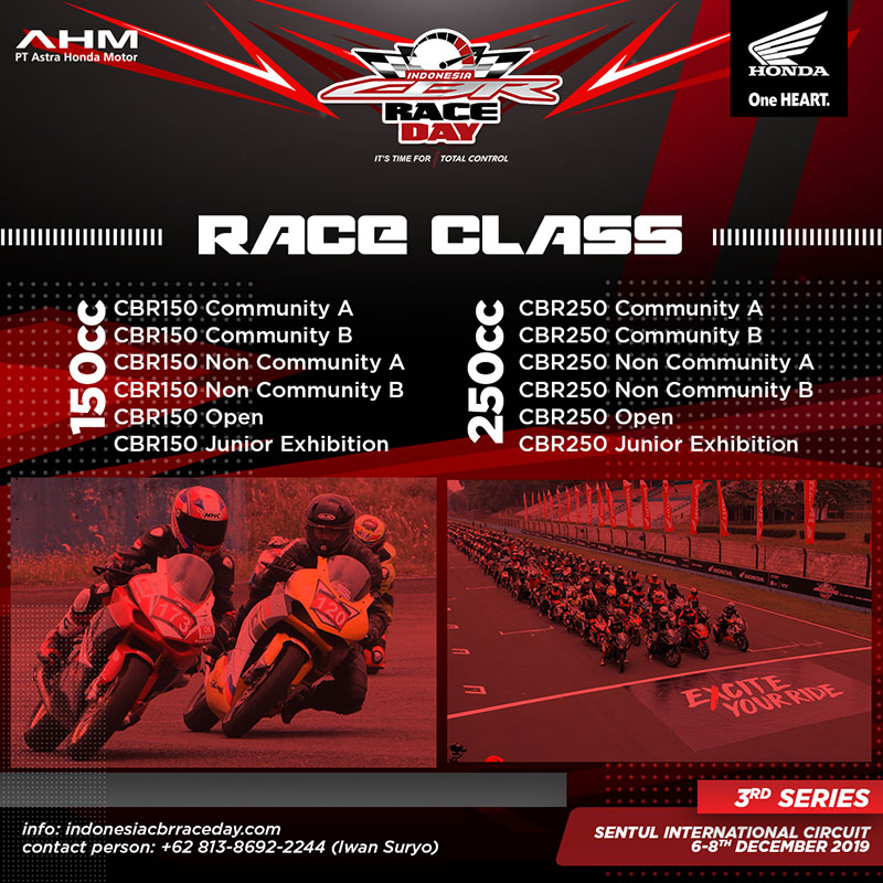 Indonesia CBR Race Day 2019 Seri 3