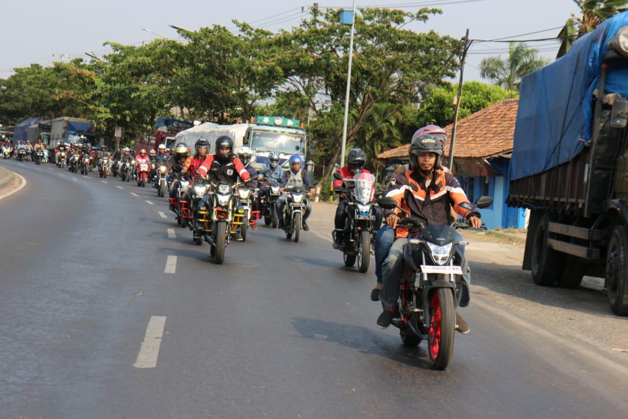 Honda Community - Main Dealer Astra Motor Jateng Gelar New CB150R  Streetfire Touring Wisata Bahari di Kota Pekalongan