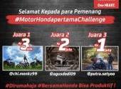 Pemenang #MotorHondaPertama Challenge